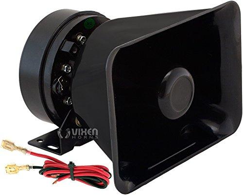 Vixen Horns Loud 100W Alarm Siren/PA/Public Address Speaker Black VXS9118