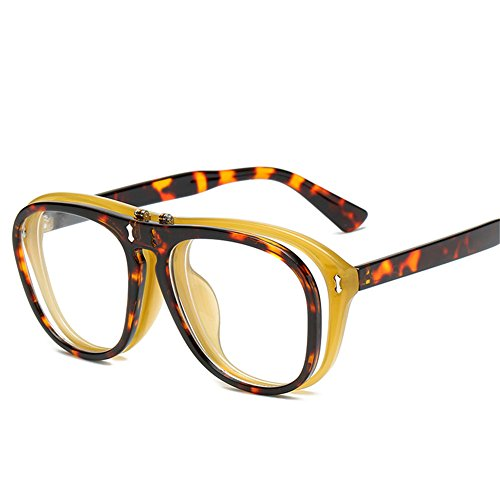 européen 142 soleil 142 femmes E et punk et créatives lunettes américain flip hommes 54mm de Lunettes double NIFG soleil de TaqE70wW1