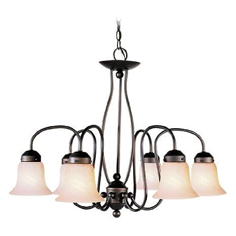 Amazon.com: livex iluminación 4146 – 07 – Lámpara de techo ...