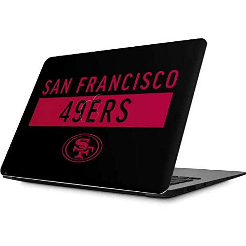 Skinit Decal Laptop Skin for MacBook Air 13.3 (2010-2017) - Officially Licensed NFL San Francisco 49ers Black Performance Series Design (49ers Laptop Skin)
