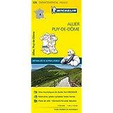 Carte Allier, Puy-de-Dôme Michelin