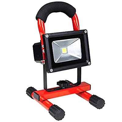 10 Watts Red Rechargeable Portable Cordless LED Flood Light for Ultra-compact Outdoor Traveling Fishing Camping Hiking Home