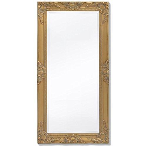 BLXCOMUS Wall Mirror Baroque Style 39.4''x19.7'' Gold mirror With four mounting hooks by BLXCOMUS (Image #1)