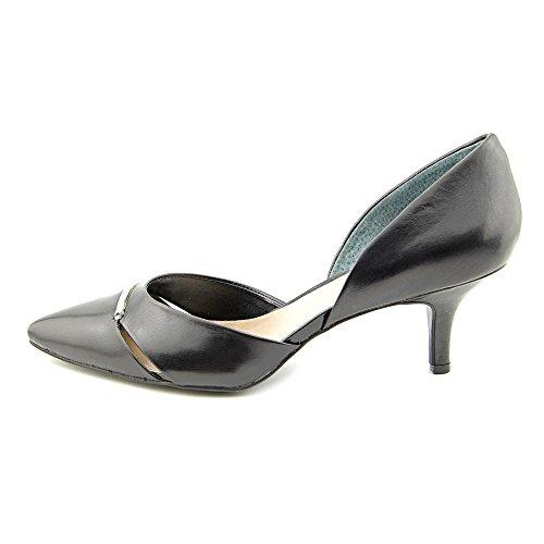 Escarpins En Cuir D-orsay Escarpins Bout Pointu Femme Alfani Noir, Taille 7,5