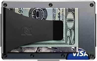 The Ridge Authentic Minimalist Metal RFID Blocking Wallet - Money Clip