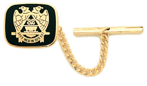 - US Jewels And Gems Gold Plated Masonic Scottish Rite Tie Tac