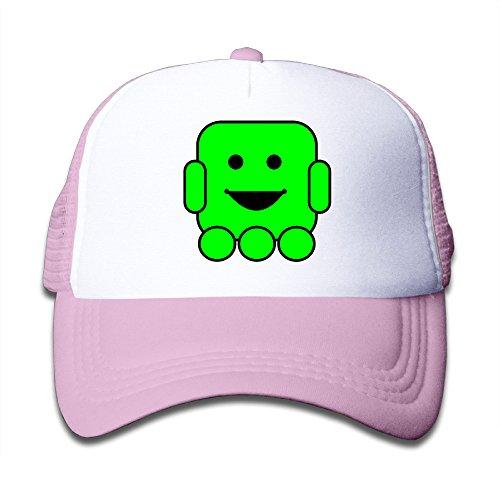 kids-hi-cute-kid-adjustable-snapback-trucker-hat-pink-one-size