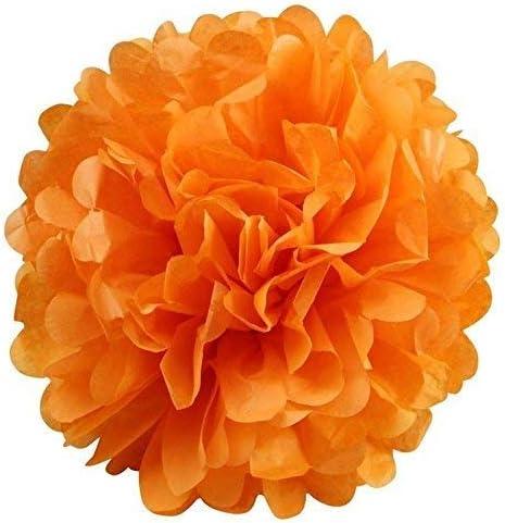 Arancione per Bambini Nero Pompon Nero e Arancione Lanterne Carta velina Decorazioni Erosion Set di Decorazioni di Carta per Halloween