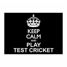 Idakoos - Keep calm and play Test Cricket - Sports - Sticker Pack x4