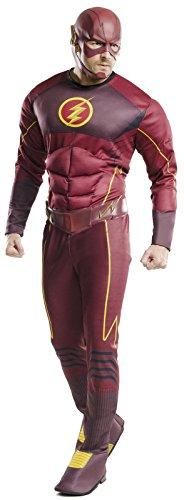 Comic Costumes For Men (Rubie's Costume Co Men's Flash Deluxe Costume, Multi, Standard)
