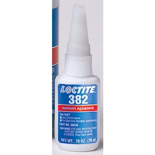 Loctite 38240 382 Clear Tak Pak Ultra Performance Instant Adhesive, 20 g Bottle