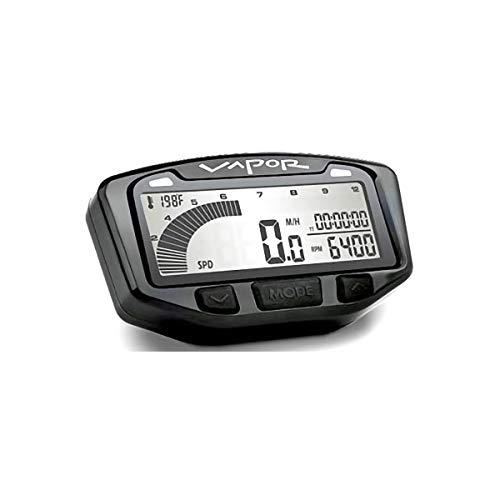(Trail Tech 752-115 Black Vapor Digital Speedometer Tachometer Gauge Kit, 1984-2015 Honda Yamaha TRX TW Raptor Wolverine)
