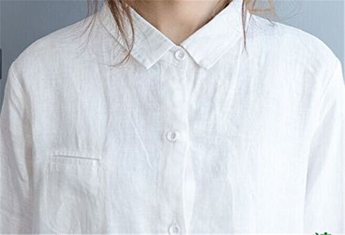 b3ce4a0cc Yesno Q18 Women Long Button-Down Shirts Blouses Dress Casual Loose Fit Ink  Painting 100