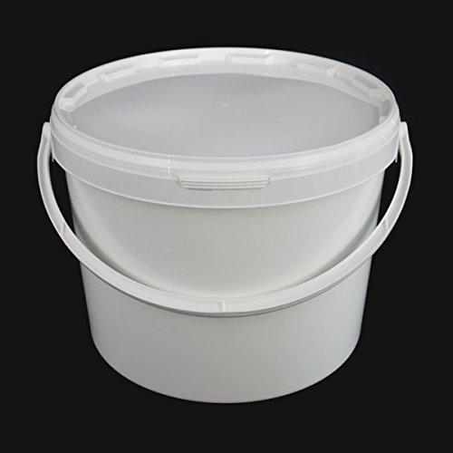 Lot de 5x 10litre hermétique alimentaire Blanc Traiteur mélanger Plastique seaux avec couvercle–Heavy Duty industriel Traiteur de cuisine de qualité Solent Plastics