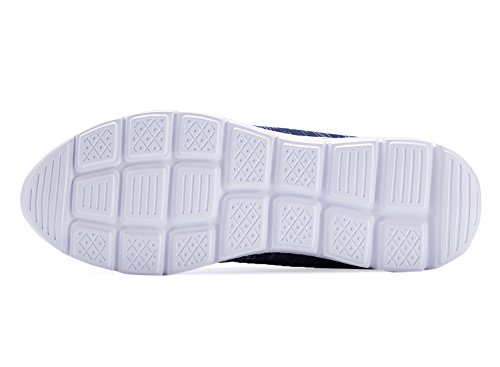 Sneakers Moda Leggera Da Uomo Traspiranti Scarpe Casual Da Running Blu Scuro