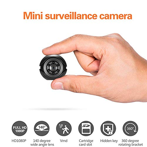 Hidden Nanny Cam HD 1080P, Spy Secret Security Camera Nanny Camera Video Recorder with Night Vision and Motion Detection, Small Cop Cam Loop Recording for Home ()
