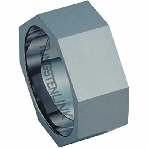 Beautiful Tungsten Carbide Hex-Nut Ring (Hex Ring)