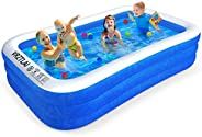 VRZTLAI Family Inflatable Swimming Pool, Inflatable Lounge Pool for Kiddie, Kids, Adults, Infant, Toddlers, Ea