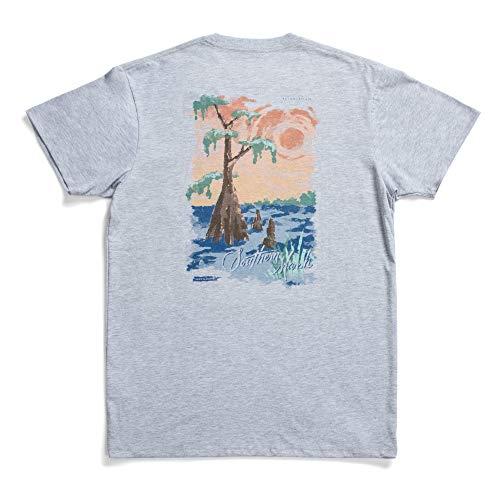 Southern Marsh Cypress Southern Horizons Short Sleeve T-Shirt, Light Gray, X-Large ()