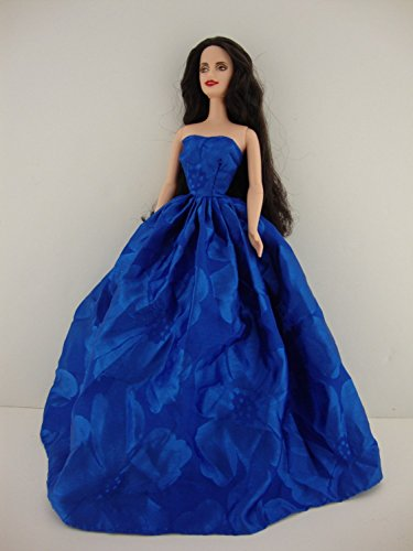- Marvelous Blue Strapless Ball Gown Great Color Made to Fit Barbie Doll