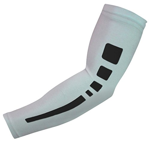 NEW! Sports Farm Athletic Shooter Sleeve (Youth Large, White/Black)