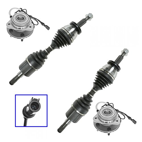 Sport Axle Cv - CV Axle & Wheel Bearing Hub Kit Front Left Right Pair for Ford Mercury