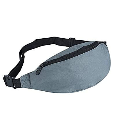d91856d53126 good Travel Fanny Pack with 2 Pockets,Canvas Security Waist Bag ...