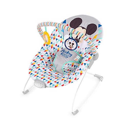 Baby Mickey Mouse (Disney Mickey Mouse Happy Triangles Cradling Bouncer with Soothing)