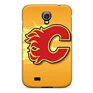 Fashion Tpu Case For Galaxy S4- Calgary Flames Defender Case Cover