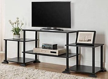3-cube Media Entertainment Center for Tvs up to 40″ Plasma Television Cabinets Flat Screen Stand Stands Storage Organizer Home Living Room Furniture Black Sale Modern