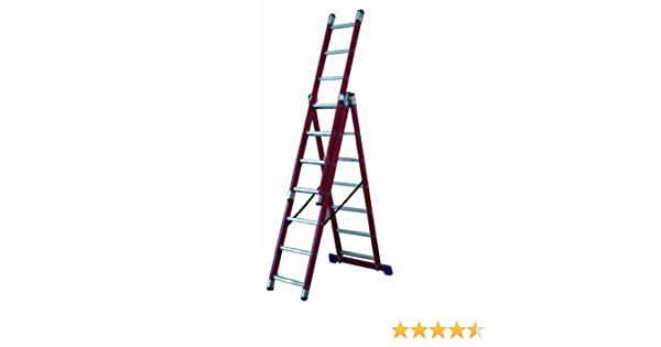 Lyte - Escalera de combinación (3 tramos de 7 peldaños, fibra de vidrio): Amazon.es: Bricolaje y herramientas