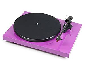 Pro-Ject Debut Carbon Turntable (Purple) With Ortofon 2M Red Factory Fitted by PRO-JECT