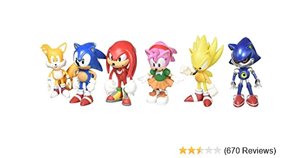6pcs Set Toy Sonic The Hedgehog Action Figure