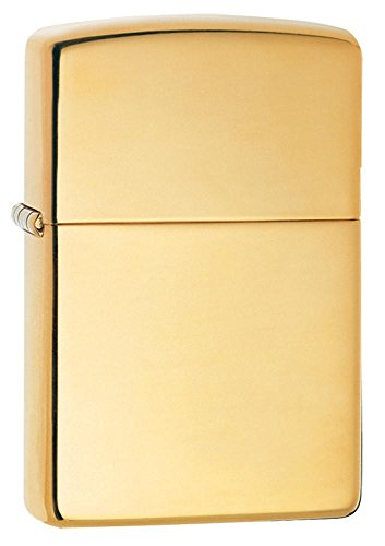 Vintage High Polish Brass Lighter - High Polish Brass Armor Heavy Zippo Outdoor Indoor Windproof Lighter Free Custom Personalized Engraved Message Permanent Lifetime Engraving on Backside