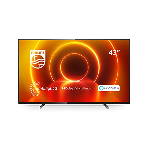 Philips Ambilight 43PUS7805/12 TV 108 cm (43 inch) LED TV (4K UHD, P5 Engine, Dolby Vision, Dolby Atmos, HDR 10+, Alexa…