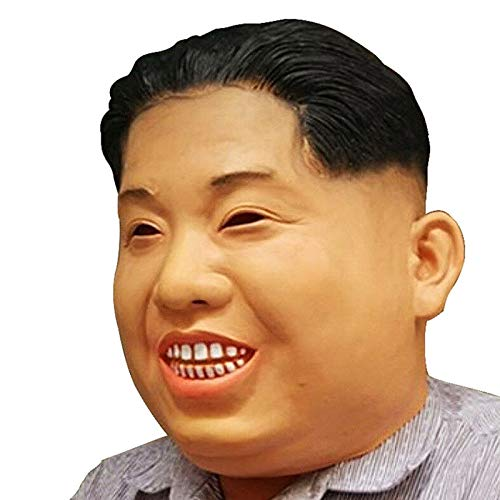 YUIOP Deluxe Novelty Halloween Costume Latex Korea Kim Jong Un Funny Mask Adult Size Cosplay Human Face Mask Animal Head Mask for Party -