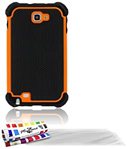 """ORIGINAL MUZZANO Orange """"Sport Case"""" Shell for SAMSUNG GALAXY NOTE + 3 """"UltraClear"""" Screen Protective Films for SAMSUNG GALAXY NOTE"""