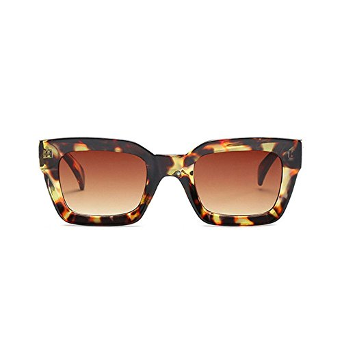 Aoligei Mode image gelée hommes lunettes de soleil rectangulaires tendance européenne lunettes de soleil femmes rondes visage lunettes de soleil C