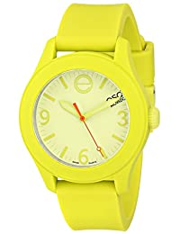 Esq Movado 7101453 Esq One Light Green Silicone Light Green Dial Watch