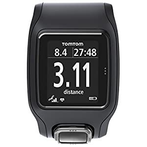 41I TomTom Runner Cardio Orologio GPS con Cardiofrequenzimetro Integrato, per Corsa Outdoor e Indoor, Nero
