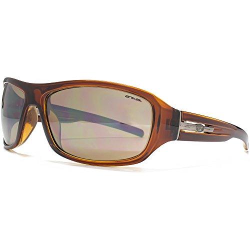 Animal Tailler grand Wrap lunettes de soleil en marron ANI011