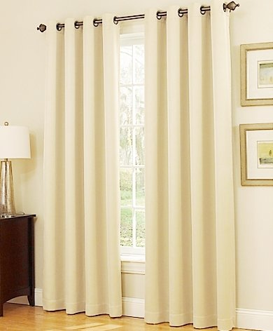 (Gorgeous HomeDIFFERENT Solid Colors & Sizes (#72) 1 Panel Solid Thermal Foam Lined Blackout Heavy Thick Window Curtain Drapes Bronze Grommets (Ivory Beige, 84