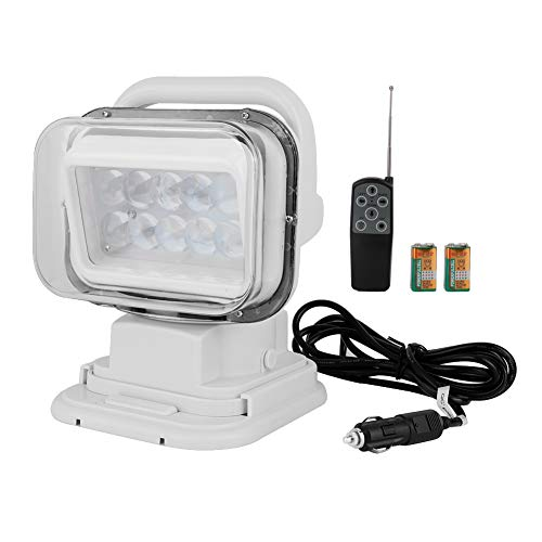 Qii lu 9-24V DC 50W Remote Car Marine Boat LED Ceiling Light Spotlight Searchlight Outdoor Lamp Tall Type
