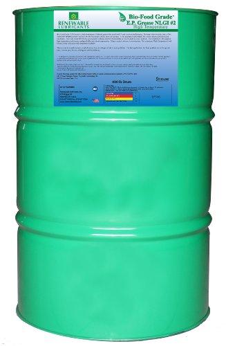 Grease 400 Lb Drum - Renewable Lubricants Bio-Food Grade EP NLGI 2 Grease, 400 lbs Drum