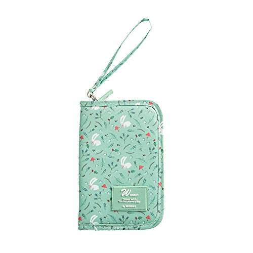 Fashion Oxford Women Card Hold Travel Multifunction Passport Bags Portable Men Wallets Coin Purses Credit Card Organizer Wallet Passport Wallet