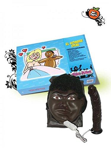 Muñeco hinchable negro con vibrador: Amazon.es: Hogar
