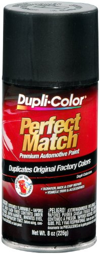 Black Cc Finish Flat - Dupli-Color EBUN01047 Universal Flat Black Perfect Match Automotive Paint - 8 oz. Aerosol
