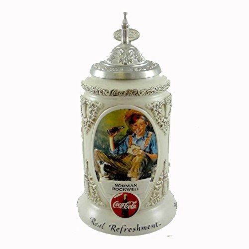 Anheuser-Busch EARLY ILLUSTRATORS STEIN Ceramic Coca Cola Coke Rockwell CS491