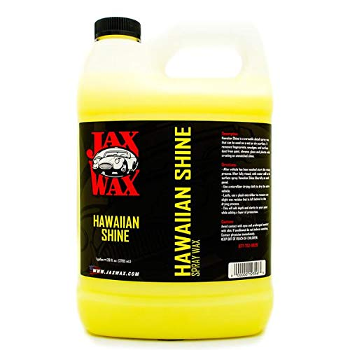 Jax Wax Hawaiian Shine Carnauba Car Wax - Quick Detail Spray Wax - 1 Gallon