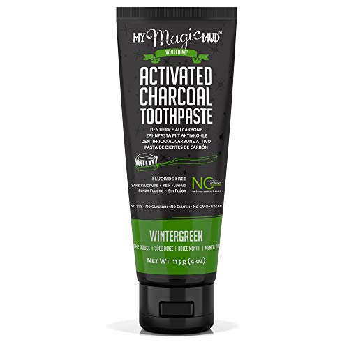 My Magic Mud - Activated Charcoal Toothpaste, Natural,...